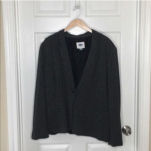 Old Navy gray suit jacket